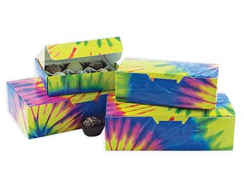 Tie-Dye Fudge Boxes